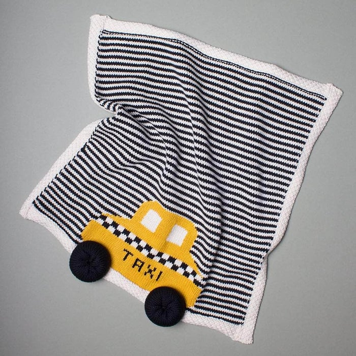 Organic Taxi Lovey or Baby Toy Security Blanket