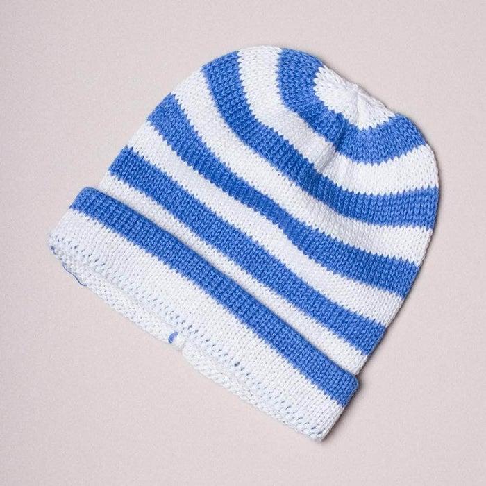 Estella Striped Organic Cotton Baby Hats 0–6M