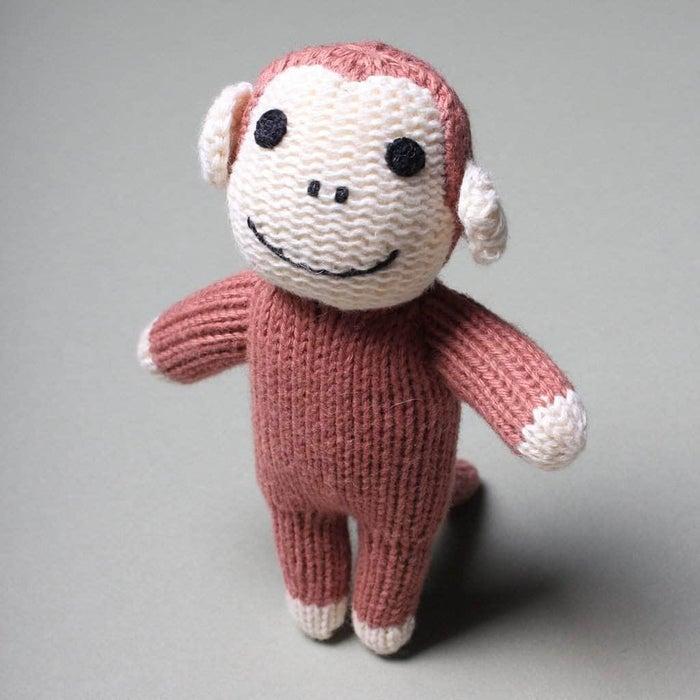 Organic Monkey Rattle Baby Toy