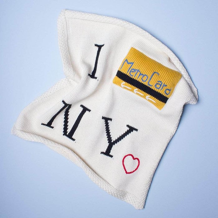 """Estella Organic Cotton Lovey or Baby Toy Security Blanket - Metrocard 14"""" x 14"""""""