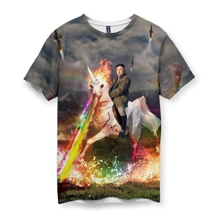45ffde5f6e52 Rainbow Unicorn Kim Jong Un