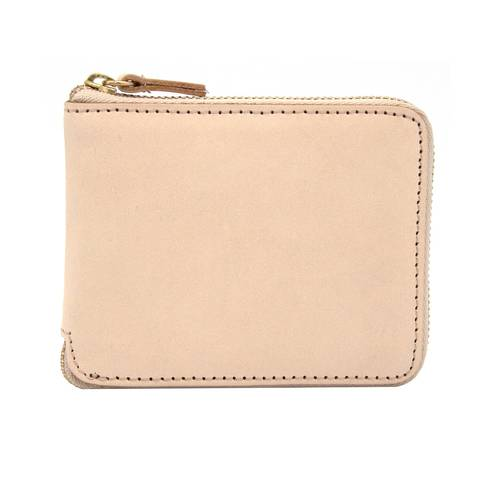 Slim Leather Zip Wallet