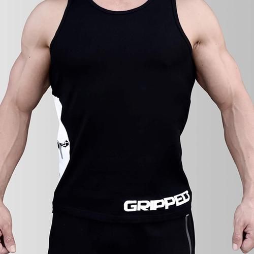 Black Big Logo Athletic Cut Tank