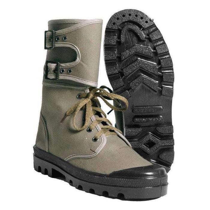 Chaussures rangers en toile Commando