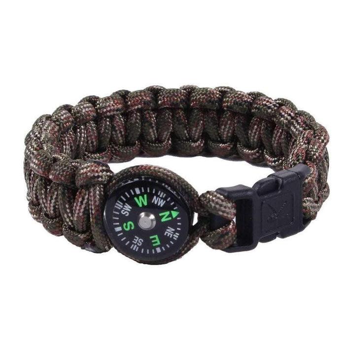 """Bracelet paracorde de survie avec boussole 8"""""""