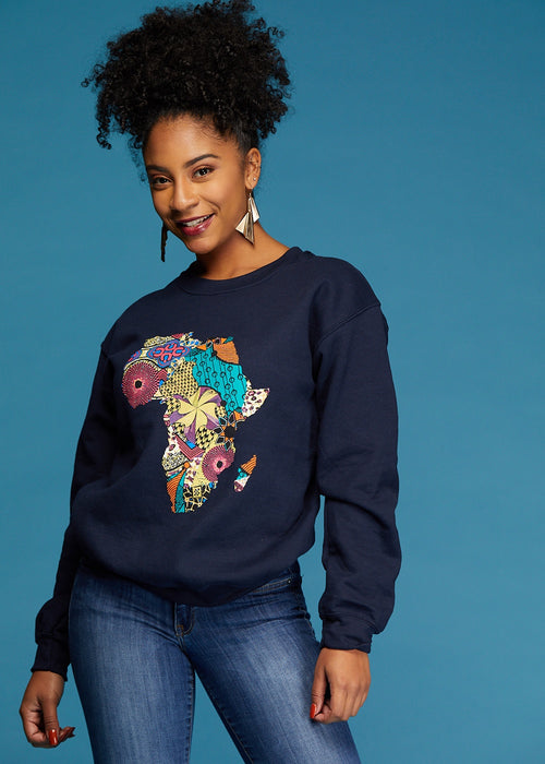 Akia Women's Africa Sweatshirt (Navy)