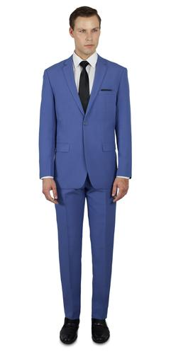 FRENCH BLUE TWO BUTTON SUIT