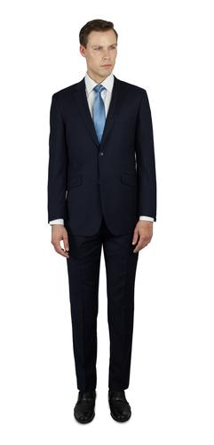 NAVY BLUE TWO BUTTON 100% WOOL SUIT