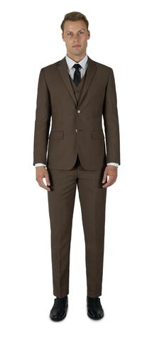MEDIUM BROWN THREE PIECE TR SUIT