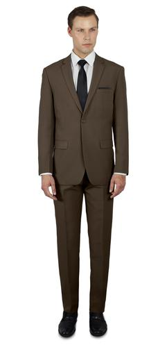 MEDIUM BROWN TWO BUTTON TR SUIT