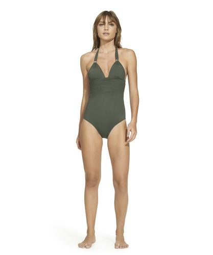 NEW LAURA R One Piece Bathing Swim Suit 10 Blue Purple Floral Print Attach Skirt