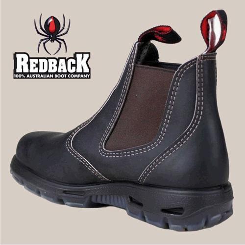 Redback Safety Boot Steel Toe - USBOK Dark Brown