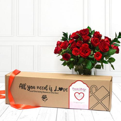 Premium 20 Stem Red Roses in Gift Box