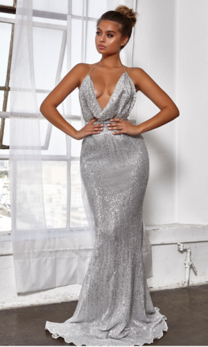 c78adb77 Abyss by Abby 'Heiress' Gown- Silver