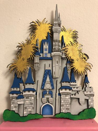 "Magical Castle Wall Art Piece - 10.5"" Wood Piece 3 WEEK TURN AROUND"