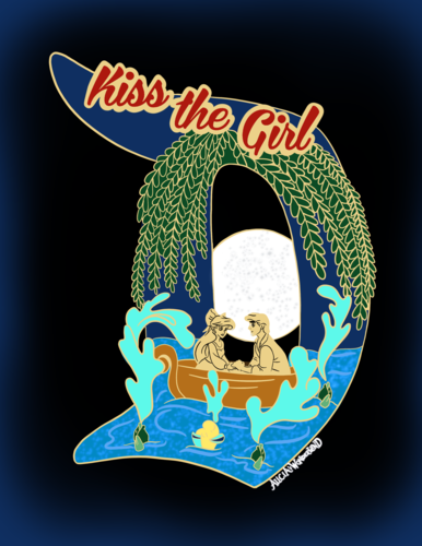 Kiss the Girl Enamel Pin PREORDER - D Design Collection -  Enamel Pin & Matching Sticker
