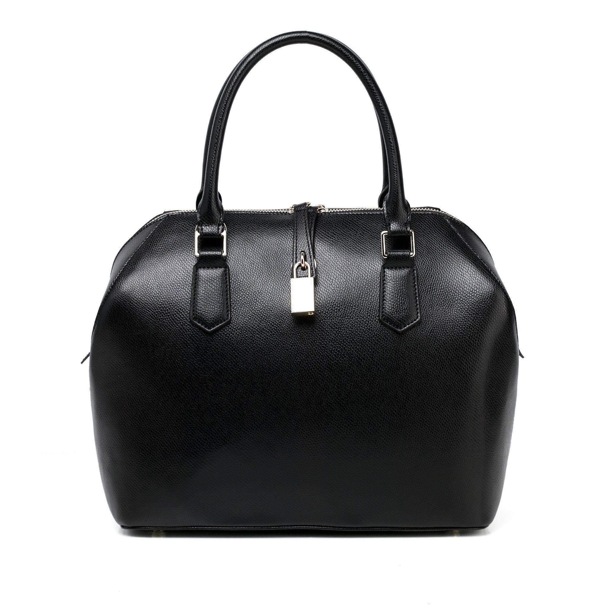 033c61c5fc Lucie Leather Top Handle Handbag - Black