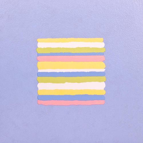 11x Vinyl Tiles Flooring - Blue Stripes - 1m2