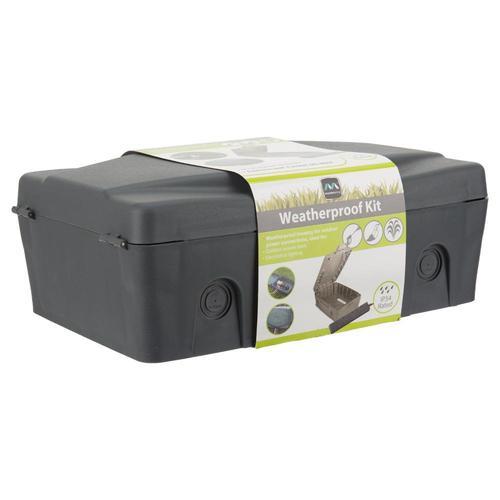 Masterplug Weatherproof Outdoor Enclosure Box IP54 & Extension Lead - Grey