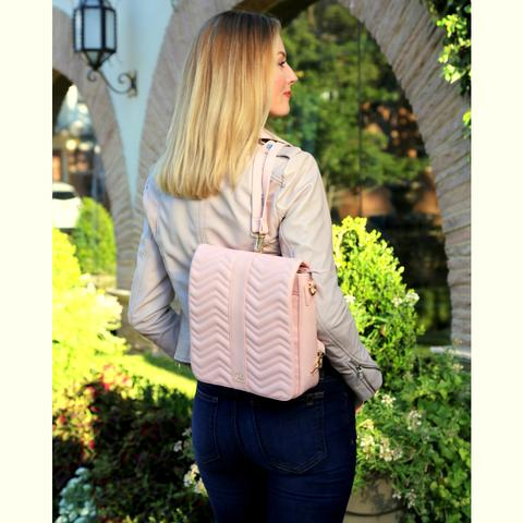 The Meghan Convertible Crossbody in Blush
