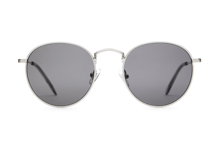 2b3cba3dc141 The Tuff Patrol - Brushed Silver   Smoke -   Grey - Sunglasses