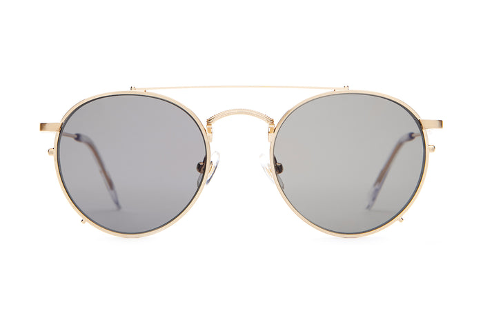 d81d690466 The Tuff Safari - Brushed Gold   Crystal -   Polarized Grey - Sunglasses