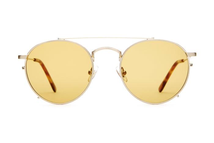 54b818eba28 The Tuff Safari - Brushed Gold   Havana Tortoise -   Mustard - Sunglasses