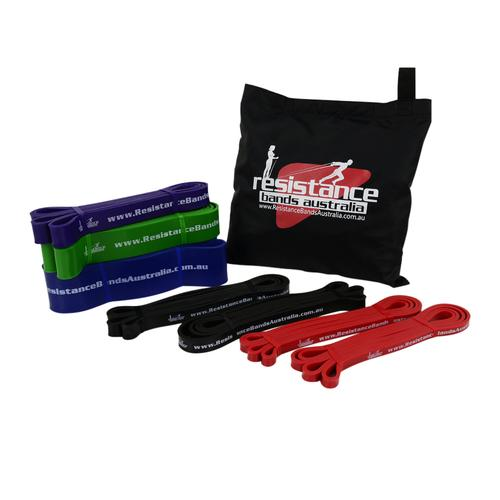 Resistance Bands - Advanced Pro Loop Dual Station Set Up +++ Package