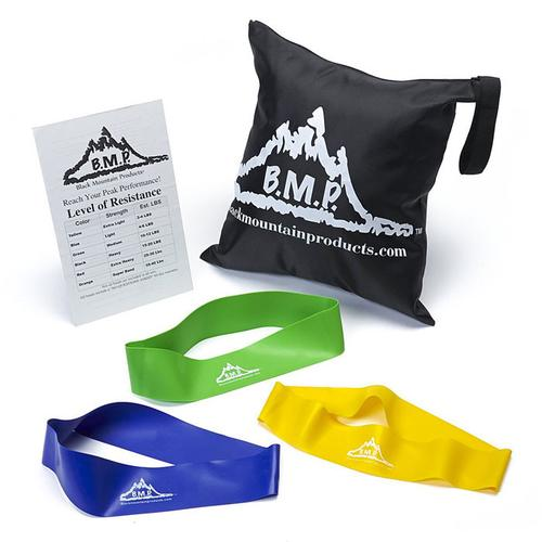 Set of 3 Mini Loop Resistance Bands Plus Guide and Bag