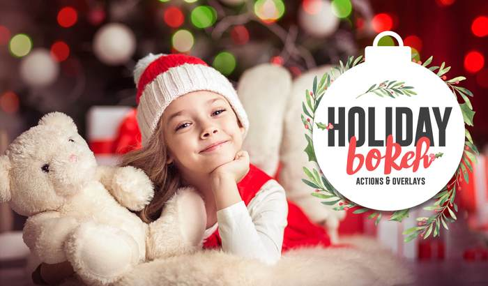 Holiday Bokeh Overlays & Actions Collection