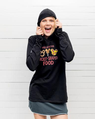 Will Run for Mickey-Shaped Food Hoodie