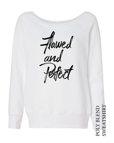 Flawed and Perfect Cotton Blend Fleece Sweatshirt