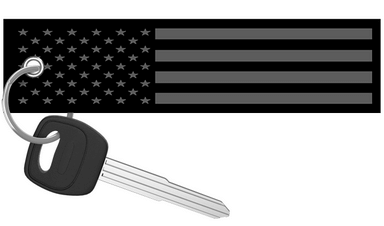 USA Flag Blackout - Motorcycle Keychain