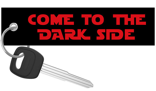 Come To The Dark Side - Motorcycle Keychain