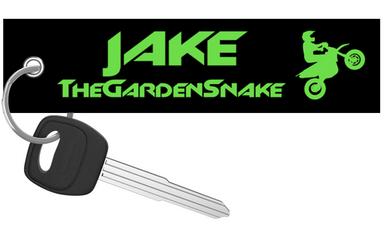 The Garden Snake Motorcycle Keychain