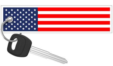 United States of America Flag - Motorcycle Keychain