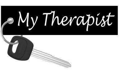 My Therapist - Motorcycle Keychain