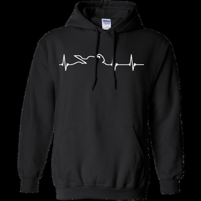 Motorcycle Heartbeat Hoodie