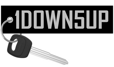1DOWN5UP (Silver edition) - Motorcycle Keychain