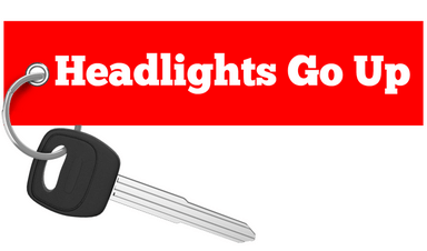 Regular Car Reviews - Head Lights Go Up and Down Keychain