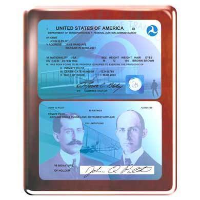 Commemorative FAA License Plaque (Rosewood)