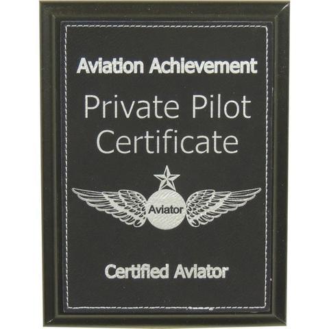 Private Pilot Certificate Aviation Achievement Plaque