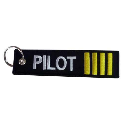 """Pilot Embroidered 5"""" Embroidered Keychain"""