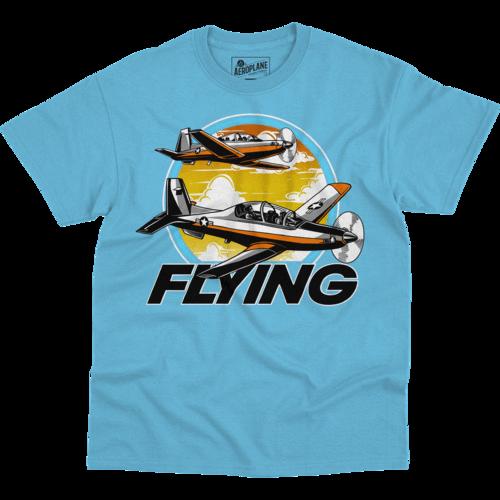 T-6 Training Mission Flying Aero Shop T-Shirt