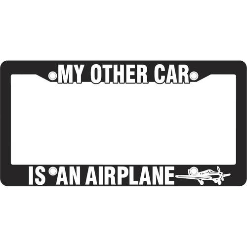 My Other Car is an Airplane License Frame