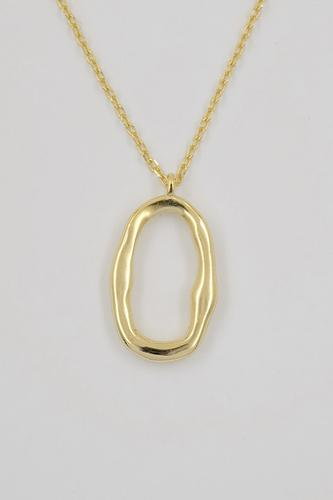 BAYLEE 18K Gold Plated s925 Hoop Pendant Necklace