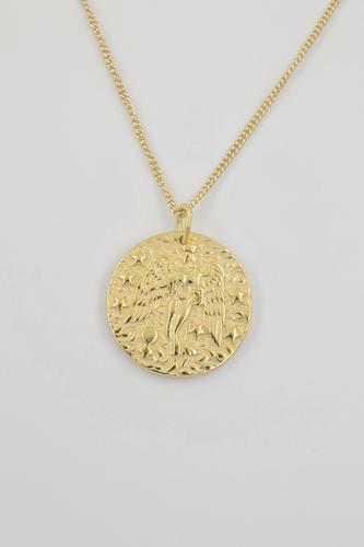 MARTHA 18K Gold Plated Goddess Coin Necklace