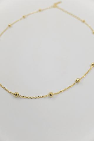 HILARY 18K Gold Plated s925 Beaded Choker Necklace