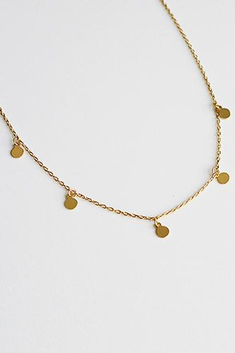 ZOEY 18K Gold Plated s925 Dainty Plates Necklace