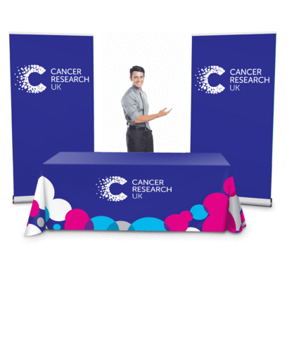 Exhibition Kit 1 - 1 x Table Cloth 2 x Roller Banners